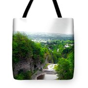 Cascadilla Gorge Cornell University Ithaca New York Panorama Tote Bag