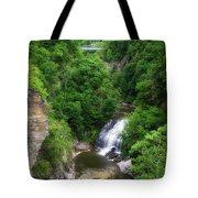 Cascadilla Waterfalls Cornell University Ithaca New York 01 Tote Bag