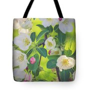 Cascading Flowers Tote Bag