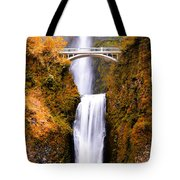 Cascading Gold Waterfall Tote Bag