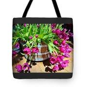 Cascading Purple Tulips  Tote Bag