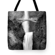 Cascading Waterfall Bw Tote Bag