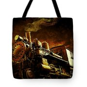 Casey Jones And The Cannonball Express Tote Bag