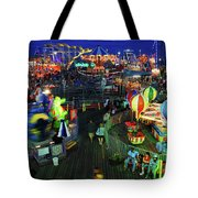 Casino Pier At Seaside Heights Tote Bag