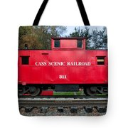 Cass Red Caboose Tote Bag