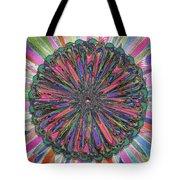 Cassandra -- Floral Disk Tote Bag
