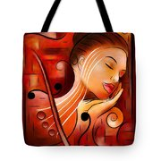 Casselopia - Violin Dream Tote Bag
