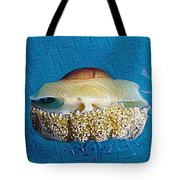 Cassiopeia Jellyfish Abstract Tote Bag