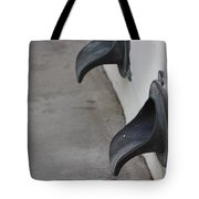 Cast Iron Rain Spouts In Stucco Building Photograph By Colleen Tote Bag
