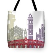 Castellon Skyline Poster Tote Bag