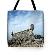 Castelo Do Queijo Old Fort Landmark In Porto Portugal Tote Bag