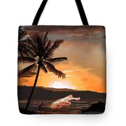 Casting Net At Sunset Tote Bag