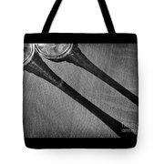 Casting Shadows Black And White Tote Bag