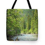 Casting To Cutthroats On The Oldman River Tote Bag