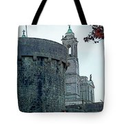 Castle And Church Athlone Ireland Tote Bag