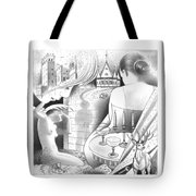 Castle And Memores Tote Bag