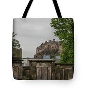 Castle Behind Cemetery Tote Bag