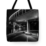 Castle Bridge B By Night Bristol England Tote Bag