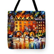 Castle By The River Tote Bag