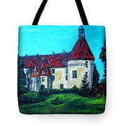 Castle Ciityscape Acrylic Painting Tote Bag