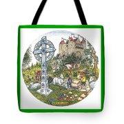 Castle Cross Circle Tote Bag