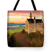 Castle Dawn Tote Bag