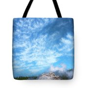 Castle Geyser Yellowstone Np Photo Painting_grk7577_05262018 Tote Bag