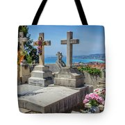 Castle Hill Graves Overlooking Nice, France Tote Bag