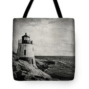 Castle Hill In Black And White Tote Bag