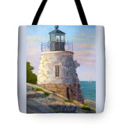 Castle Hill Light Newport Ri Tote Bag