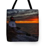Castle Hill Lighthouse Sunset Tote Bag