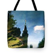 Castle In The Lake Tote Bag