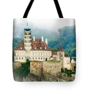 Castle In The Mist Tote Bag