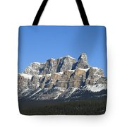 Castle Mountain Winter Tote Bag