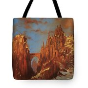 Castle Of The Mountain King Tote Bag