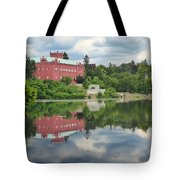 Castle On The Lake Tote Bag