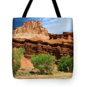 Castle Over Cottonwoods Tote Bag