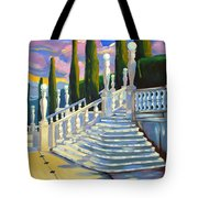 Castle Patio 1 Tote Bag by Milagros Palmieri