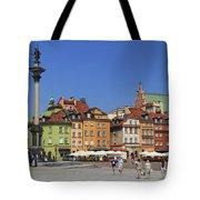 Castle Square And Sigismund's Column Warsaw Poland Tote Bag