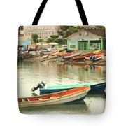Castries Harbor Waterfront Tote Bag