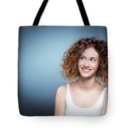 Casual Portrait Of A Cute, Authentic Girl. Tote Bag