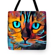 Cat 10 Tote Bag