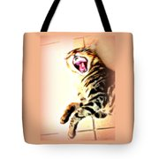 Cat Screaming To Me Tote Bag
