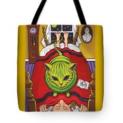 Cat - Alien Abduction Tote Bag