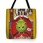 Cat - Alien Abduction Tote Bag