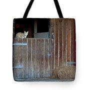 Cat And Barn Tote Bag