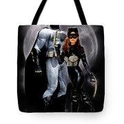 Cat And Bat Tote Bag