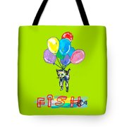 Cat And Fish Friend Tote Bag
