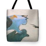 Cat And Lizard  Tote Bag