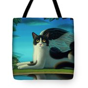 Cat And Mouse 2 Tote Bag